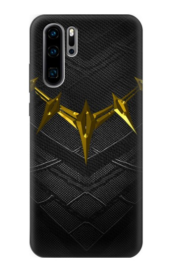 Printed Black Panther Inspired Costume Gold Necklace Huawei P30 Pro Case