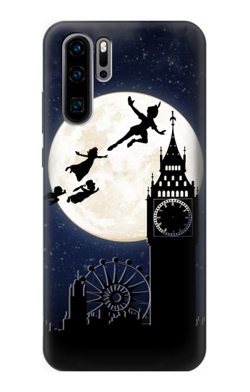 Printed Peter Pan Fly Fullmoon Night Huawei P30 Pro Case