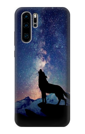Printed Wolf Howling Million Star Huawei P30 Pro Case