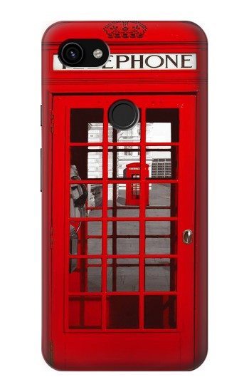 Printed Classic British Red Telephone Box Google Pixel 3a XL Case