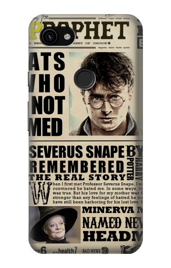 Printed Harry Potter Daily Prophet Google Pixel 3a XL Case