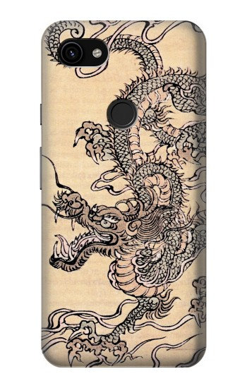 Printed Antique Dragon Google Pixel 3a XL Case
