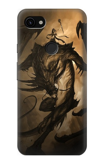 Printed Dragon Rider Google Pixel 3a XL Case