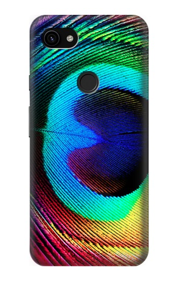 Printed Peacock Google Pixel 3a XL Case