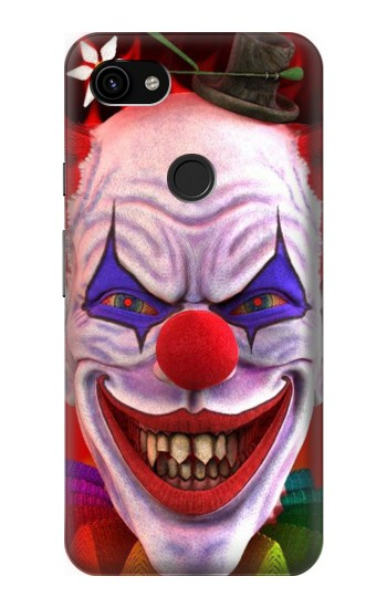 Printed Evil Clown Google Pixel 3a XL Case