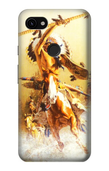 Printed Red Indian Warrior Google Pixel 3a XL Case