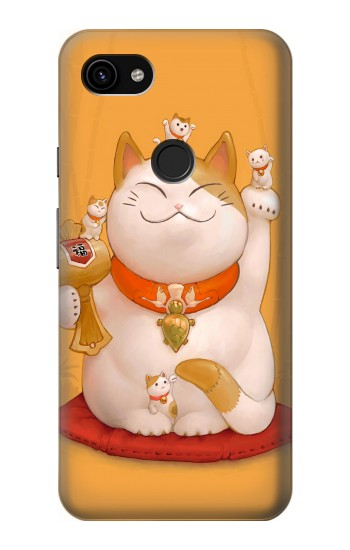 Printed Maneki Neko Lucky Cat Google Pixel 3a XL Case