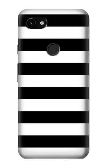 Printed Black and White Striped Google Pixel 3a XL Case