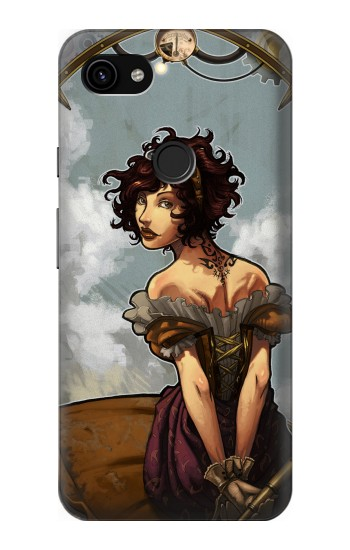 Printed Steampunk Girl Google Pixel 3a XL Case