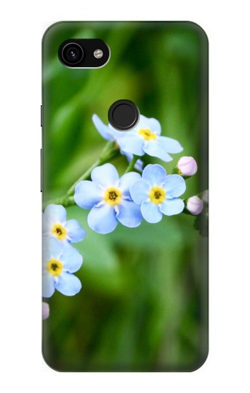 Printed Forget Me Not Google Pixel 3a XL Case