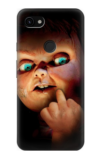 Printed Chucky Middle Finger Google Pixel 3a XL Case