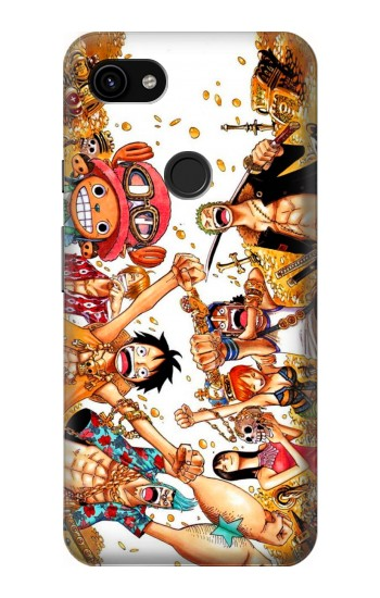 Printed One Piece Straw Hat Luffy Pirate Crew Google Pixel 3a XL Case