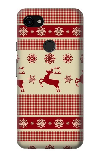 Printed Christmas Snow Reindeers Google Pixel 3a XL Case