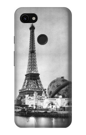 Printed Old Paris Eiffel Tower Google Pixel 3a XL Case