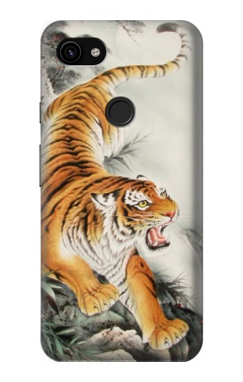 Printed Chinese Tiger Tattoo Painting Google Pixel 3a XL Case