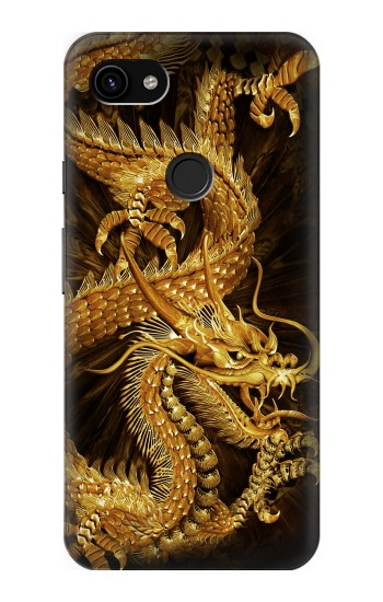 Printed Chinese Gold Dragon Printed Google Pixel 3a XL Case