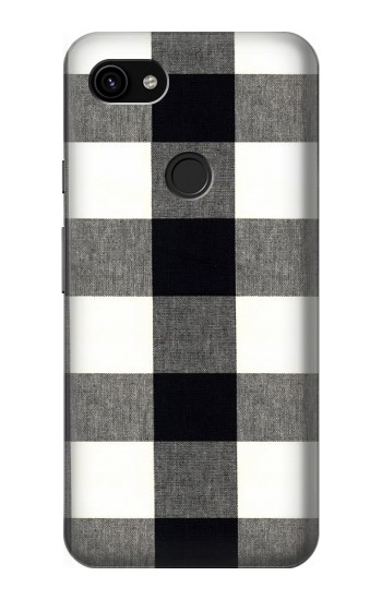 Printed Black and White Buffalo Check Pattern Google Pixel 3a XL Case