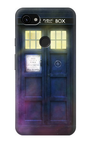 Printed Tardis Phone Box Google Pixel 3a XL Case