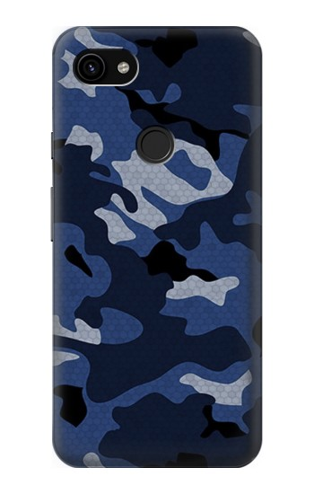 Printed Navy Blue Camouflage Google Pixel 3a XL Case