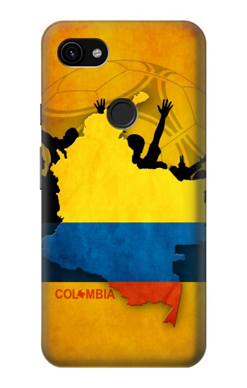 Printed Colombia Football Flag Google Pixel 3a XL Case