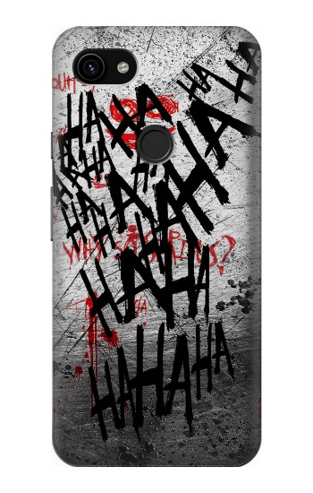 Printed Joker Hahaha Blood Splash Google Pixel 3a XL Case
