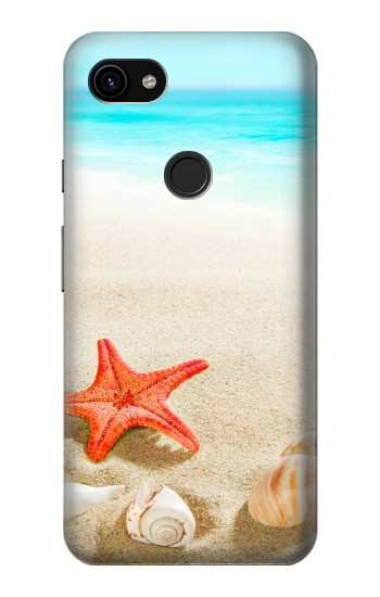Printed Sea Shells Starfish Beach Google Pixel 3a XL Case