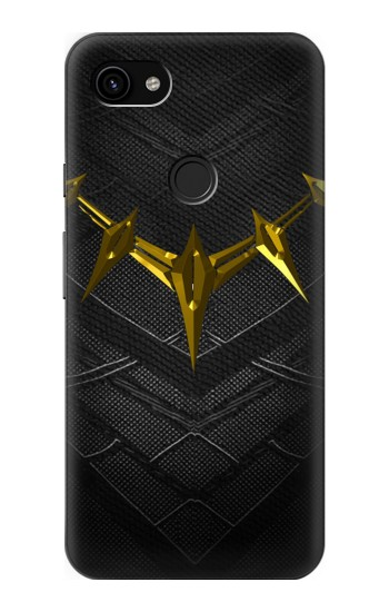Google Pixel 3a XL Black Panther Inspired Costume Gold Necklace Case Cover