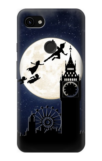 Printed Peter Pan Fly Fullmoon Night Google Pixel 3a XL Case