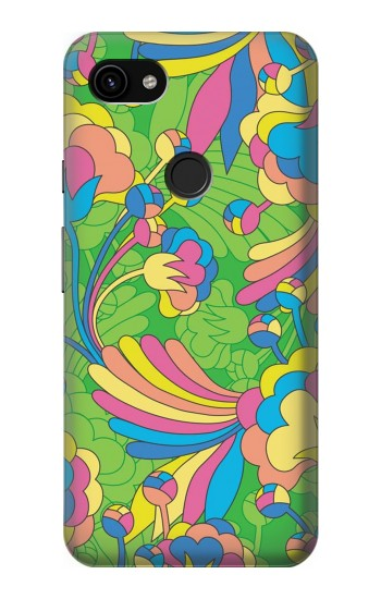 Printed Flower Line Art Pattern Google Pixel 3a XL Case