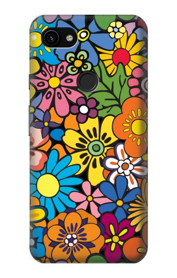 Printed Colorful Flowers Pattern Google Pixel 3a XL Case