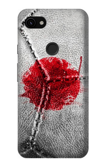 Printed Japan Flag Vintage Football 2018 Google Pixel 3a XL Case