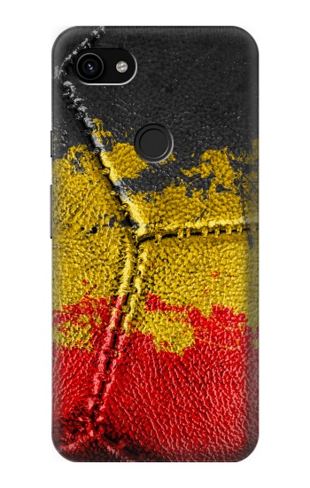 Printed Belgium Flag Vintage Football 2018 Google Pixel 3a XL Case