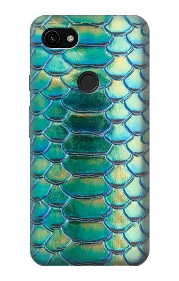 Printed Green Snake Scale Graphic Print Google Pixel 3a XL Case