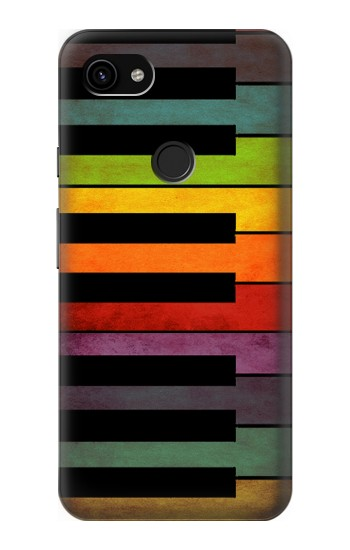 Printed Colorful Piano Google Pixel 3a XL Case