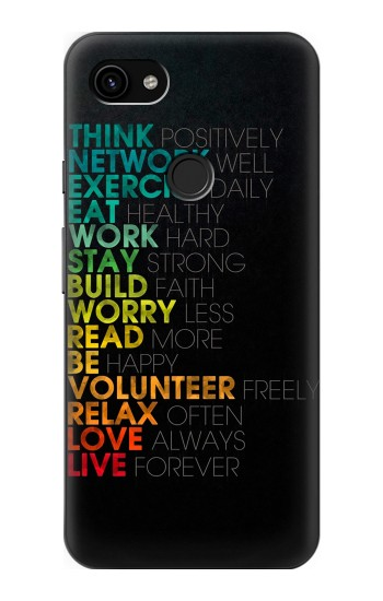 Printed Think Positive Words Quotes Google Pixel 3a XL Case