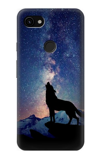 Printed Wolf Howling Million Star Google Pixel 3a XL Case