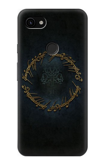 Printed Lord of The Rings Ring Elf Writing Google Pixel 3a XL Case