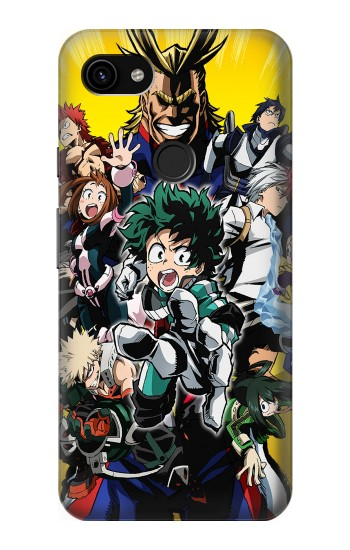 Printed My Hero Academia Google Pixel 3a XL Case