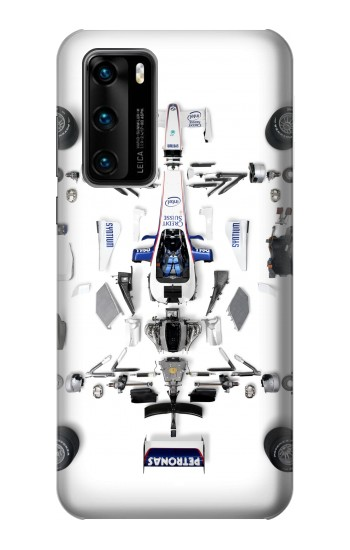 Printed Formula One F1 Auto Part Huawei P40 Case