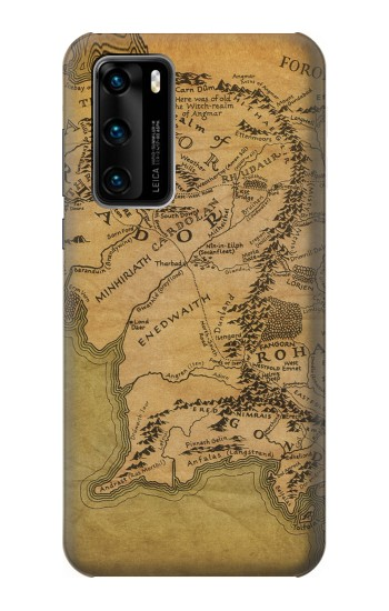 Printed The Lord Of The Rings Middle Earth Map Huawei P40 Case
