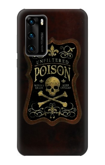 Printed Unfiltered Poison Vintage Glass Bottle Huawei P40 Case