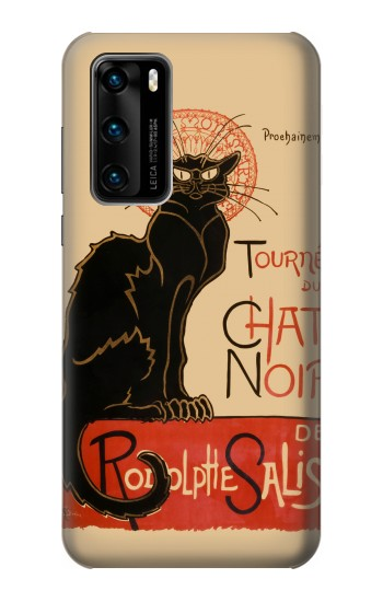 Printed Chat Noir The Black Cat Huawei P40 Case