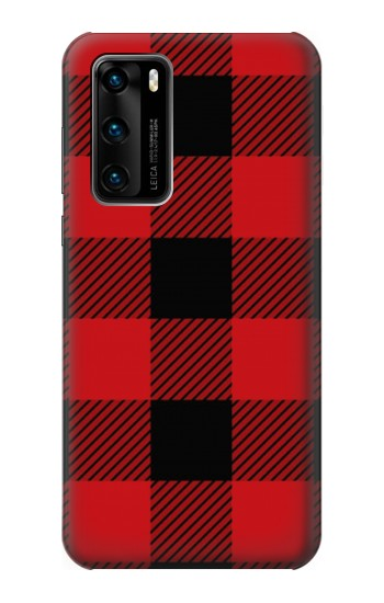 Printed Red Buffalo Check Pattern Huawei P40 Case