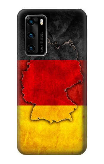 Printed Germany Flag Map Huawei P40 Case