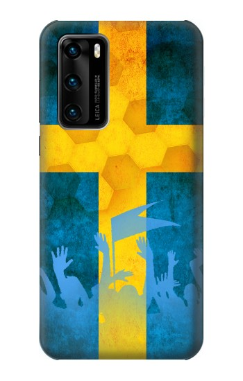 Printed Sweden Football Flag Huawei P40 Case
