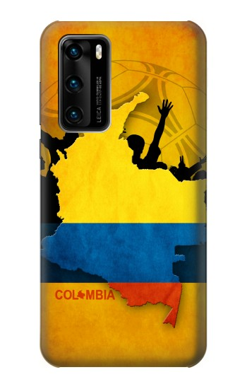 Printed Colombia Football Flag Huawei P40 Case