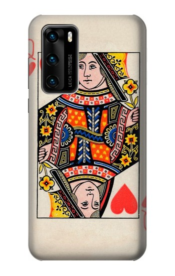 Printed Queen Hearts Card Huawei P40 Case