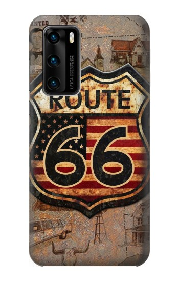 Printed Route 66 Huawei P40 Case