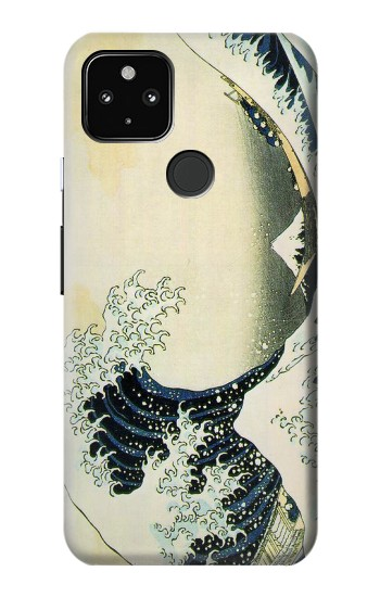 Printed Katsushika Hokusai The Great Wave of Kanagawa Google Pixel 4a 5G Case