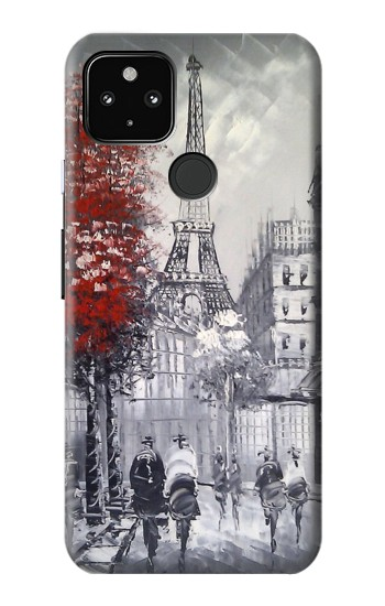 Printed Eiffel Painting of Paris Google Pixel 4a 5G Case